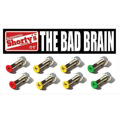 "Shortys Skateboards Bad Brain Skateboard Hardware Set - 1"""