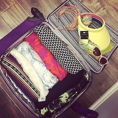 Suitcase before heading to Coachella