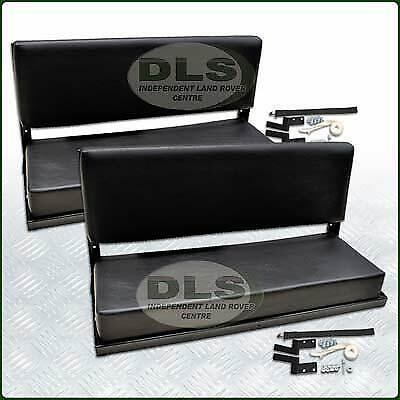 Rear Bench Seat Set Black Vinyl Land Rover Defender 90 to`07, Series SWB (320737