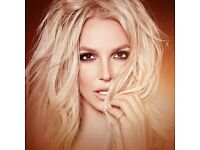 2 FACE VALUE Britney Spears Tickets Block B3 @ O2 Arena