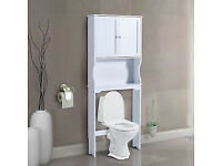 Fully Built Over Toilet Cabinet Freestanding Storage for your Bathroom. Delivery available