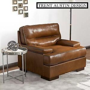 NEW* TRENT AUSTIN DESIGN CLUB CHAIR 146515372 LEATHER TOPAZ