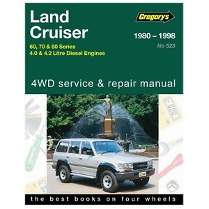 Gregory's Car Manual Toyota Landcruiser 60 70 & 80 Series Diesel 1980-1998 - 523