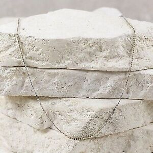 Sterling Silver ITALY 1mm Ball Bead Chain (size 15.75) #6.31