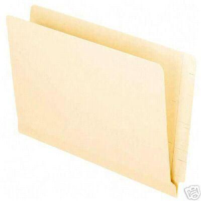 Oxford 11055 End Tab Legal Shelf File Folders 95 count Straight cut tabs