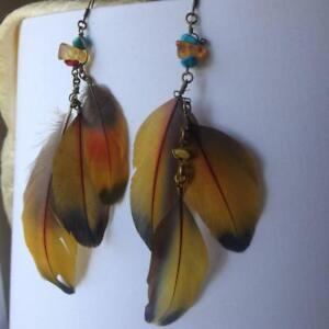 Macaw Feather Earrings 1 Pair Robertson Bowral Area Preview