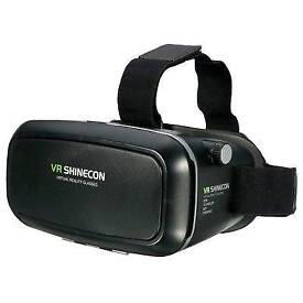 1/10 Virtual Reality 3D VR Shinecon Headset Glasses for iPhone Android Video Game UK
