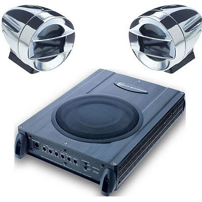 2 Speakers & Powered Subwoofer Upgrade System for Hot Rods Muscle & Vintage Cars