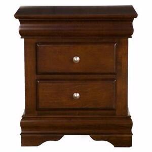 New, Alpine Furniture Chesapeake 2-Drawer Nightstand - Cappuccino *PickupOnly