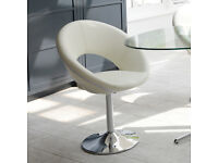 £150 QUICK SALE Retro circles dining chair off white (six chairs) used condition nearly new