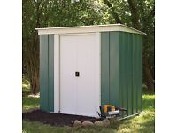 8 x 4 Greenvale Pent Metal Shed. New. Flatpack. Pick up today.