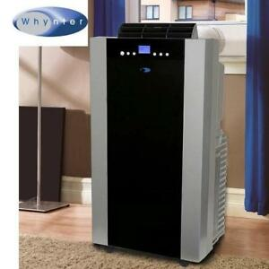 NEW WHYNTER AIR CONDITIONER - 125207745 - 14 000 BTU - PORTABLE - DUAL HOSE - REMOTE - DEHUMIDIFER - TIMER AC A/C MOBILE