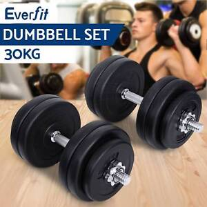 Dumbbell Set Weight Dumbbells Plates Home Gym Fitness 30KG Adelaide CBD Adelaide City Preview