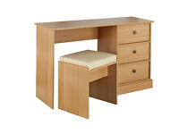 Kensington Dressing Table and Stool - Oak Effect