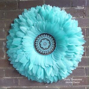 Mint green juju hat style wall decoration Cremorne Point North Sydney Area Preview