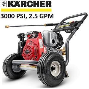 NEW KARCHER GAS PRESSURE WASHER - 124129781 - 3000 PSI 2.5 GPM HONDA ENGINE