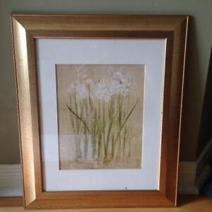 Like new Floral Art Print framed with glass Kitchener / Waterloo Kitchener Area image 1
