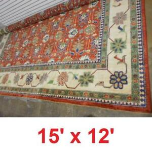 NEW* HAND KNOTTED WOOLEN CARPET - 131655933 - 15' x 12' MULTI COLOURED GENUINE PAKISTAN CARPETS RUG RUGS  FLOORING AC...