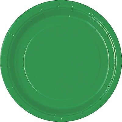 grüne Pappteller, Partyteller-Einwegteller in Grün, 8er Pack, d=23cm