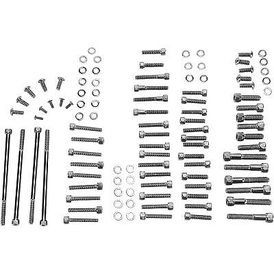 Drag Specialties - MK700BK - Complete Motor Black Chrome Socket-Head Bolt Set Drag Specialties Chrome Motor