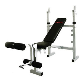 York B350 Pro Fitness Multi Use Work Out Weight Bench with Weights, Dumbbells and Barbell