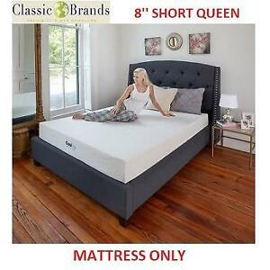 NEW CLASSIC BRANDS 8'' MATTRESS 410069-1154 203969914 SHORT QUEEN COOL GEL VENTILATED MEMORY FOAM
