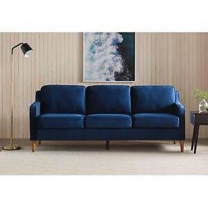 Mid-Century Modern Velvet Couch AND Chair - NEW