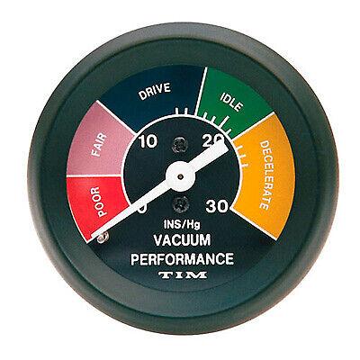 Tim Vacuum Black Dial Face Mechanical Analogue Dash Board 52mm Gauge