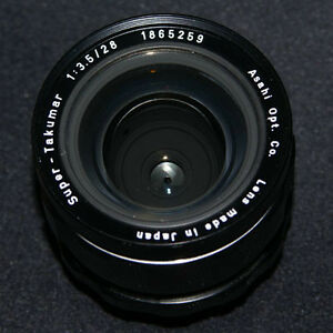 like new super takumar 28 3.5 wide angle lens