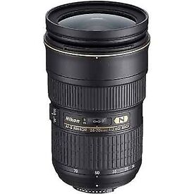 Looking for camera Nikon d850 and lens Nikkor 24-70mm ed used. Please contact me.