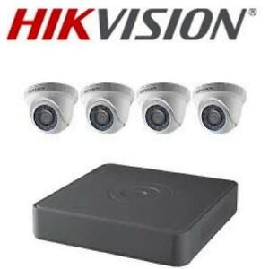 Weekly Promo!  Hikvision TVI Security Camera Kit, 4 Channel DVR, 4 x 1080p Turret Cameras,   T7104Q1TA $450