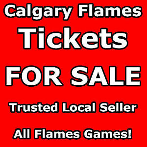 2/4 FLAMES TICKETS - ALL GAMES - HABS HAWKS CANUCKS ETC 2nd L