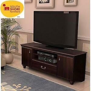 NEW* SOUTH SHORE 60 TV STAND 11705 251545318 DARK MAHOGANY NOBLE COLLECTION