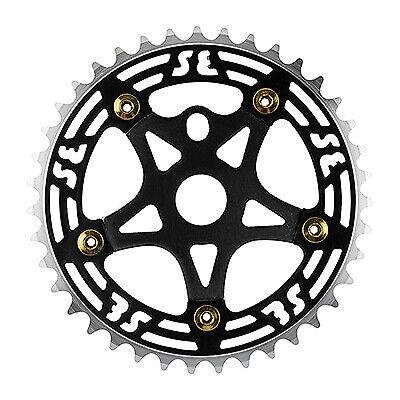 "MCS BMX SPIDER CHAINRING COMBO 33T BLACK SILVER  RETRO SE 26/"" BIKES USA MADE"