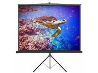 "86"" VonHaus 4:3 Aspect Ratio Tripod Projector Screen in Matt White"