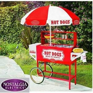 NEW* NOSTALGIA HOT DOG VENDING CART - 128285488 - STAINLESS STEEL COOKING ROLLERS