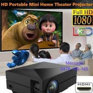 100% New Portable Mini 1000LM Home Theater LED LCD Projector HDMI Melbourne CBD Melbourne City Preview