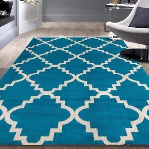 Newport Blue Area Rug by World Rug Gallery ( 8 X 10 ) NEW