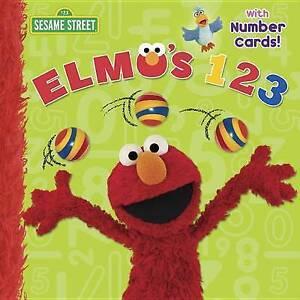 Elmo's 123 (Sesame Street) By Random House -Paperback