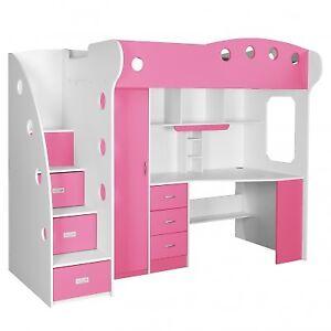 Nika Loft Bed with Computer Desk
