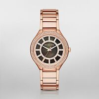 $380 Michael Kors Womens Kerry Steel Watch Rose Gold Tone MK3397