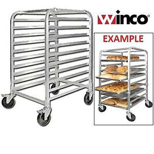 NEW WINCO ALUMINUM PAN RACK ALRK-10BK 219357234 CASTERS BRAKE  TIER COOLING