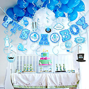 Lucky Party Baby Shower Decorations For Boy Hanging Banner Room