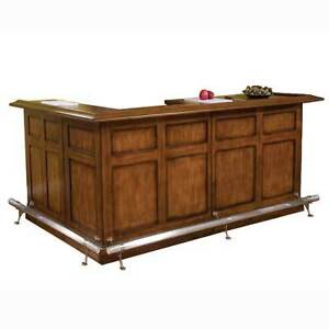 2 pc Black Cherry L-shaped wooden bar from FG Bradley
