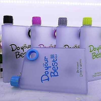 2 × Do Your Best A5 Notebook Style Ultra Slim Water Bottle 380