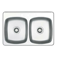Wessan Double-Bowl Stainless Steel Sink - (Brand New In Box)