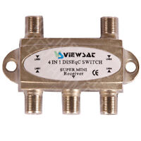 ★FREE TO AIR DISEqC 4 WAY SWITCH SW41 BEST PRICE IN TOWN $9.95 ★