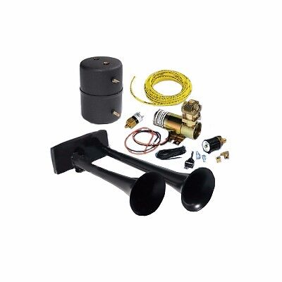 ALL MAKES DODGE FORD HADLEY BULLY  HORN KIT DUAL AIR HORN 12V DC COMPRESSOR