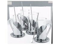 New Avanti Cafe Quattro In Box 4 x 4 Pce Irish Iced Coffee Mug Glass Set QUALITY!