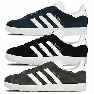 Adidas Originals Gazelle Trainers Men's Retro Style Suede Leather Lace Up Shoes